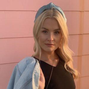 Lila Sky Blue Turban Headband