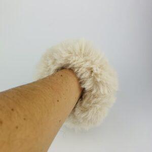 Lila Nude Fluffy Scrunchie