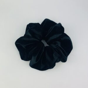 Lila Black Velvet Scrunchie