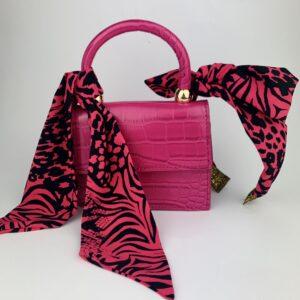 Lila Hot Pink Bag and Headband Set