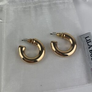 Lila Gold Half Hoop Earrings