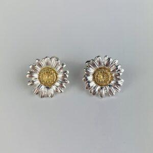 Lila Silver Daisy Earrings