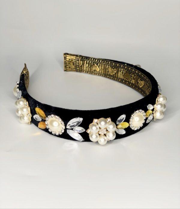 Lila Milla Pearl Jewelled Headband