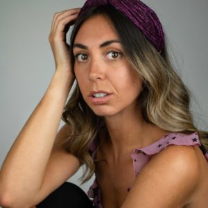 Lila Plum Turban Headband