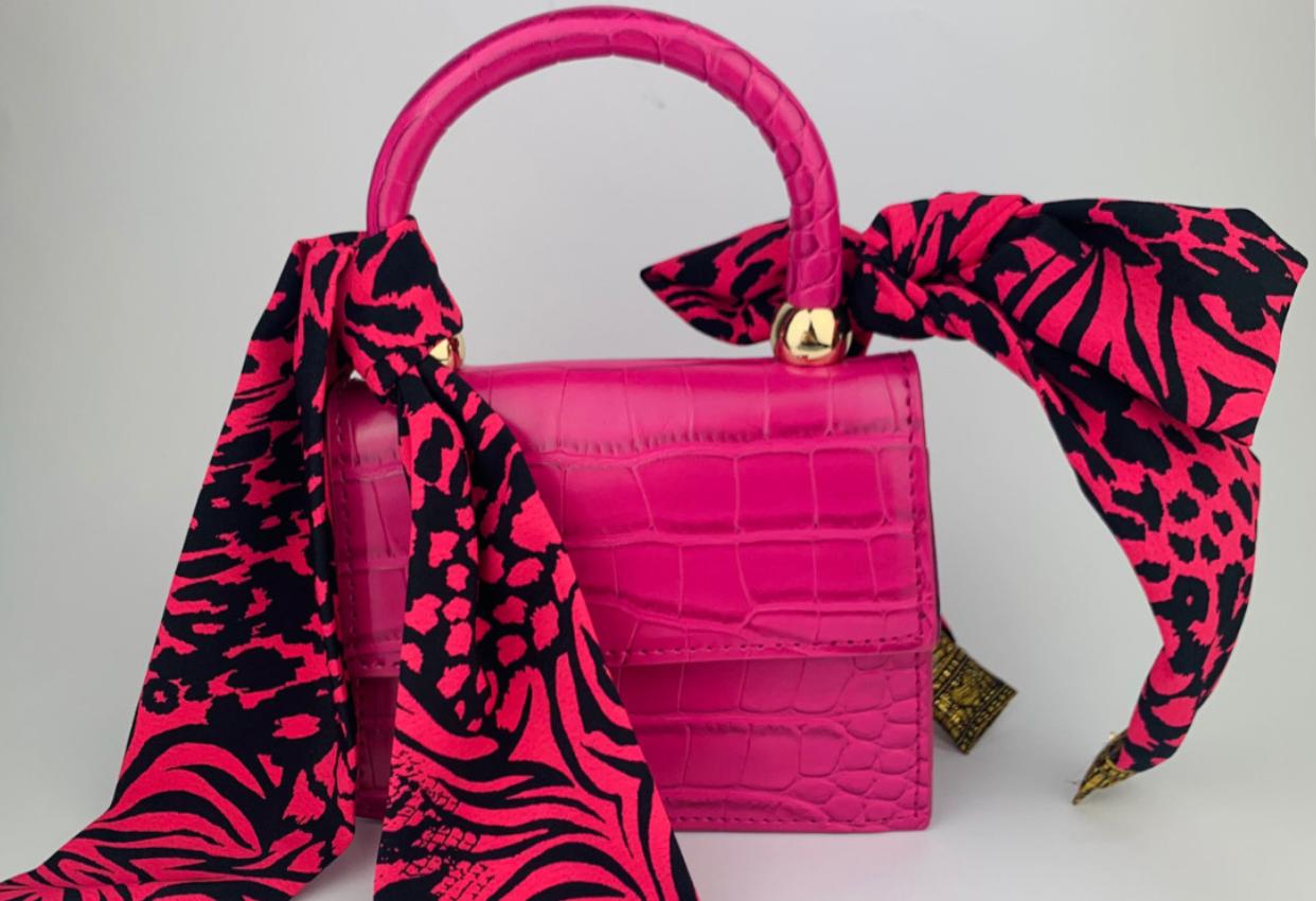 Lila Hot Pink Animal Bag Set